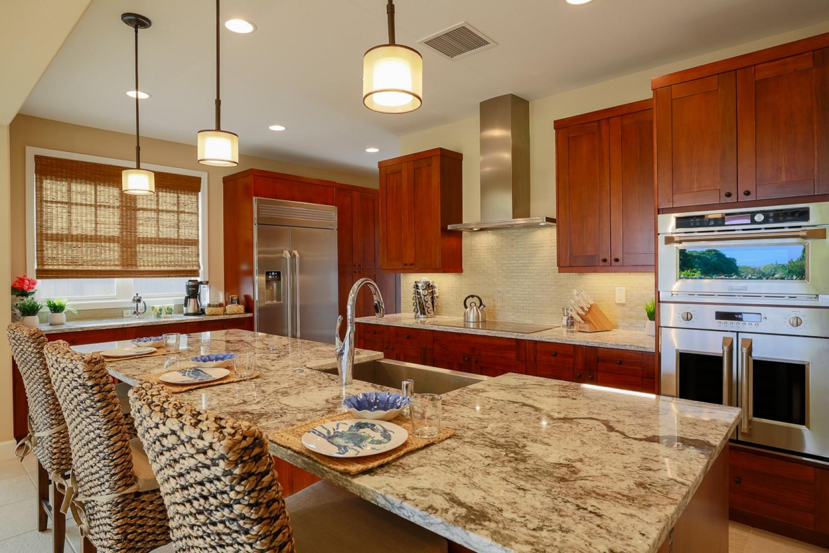The kitchen has all the amenities your group needs