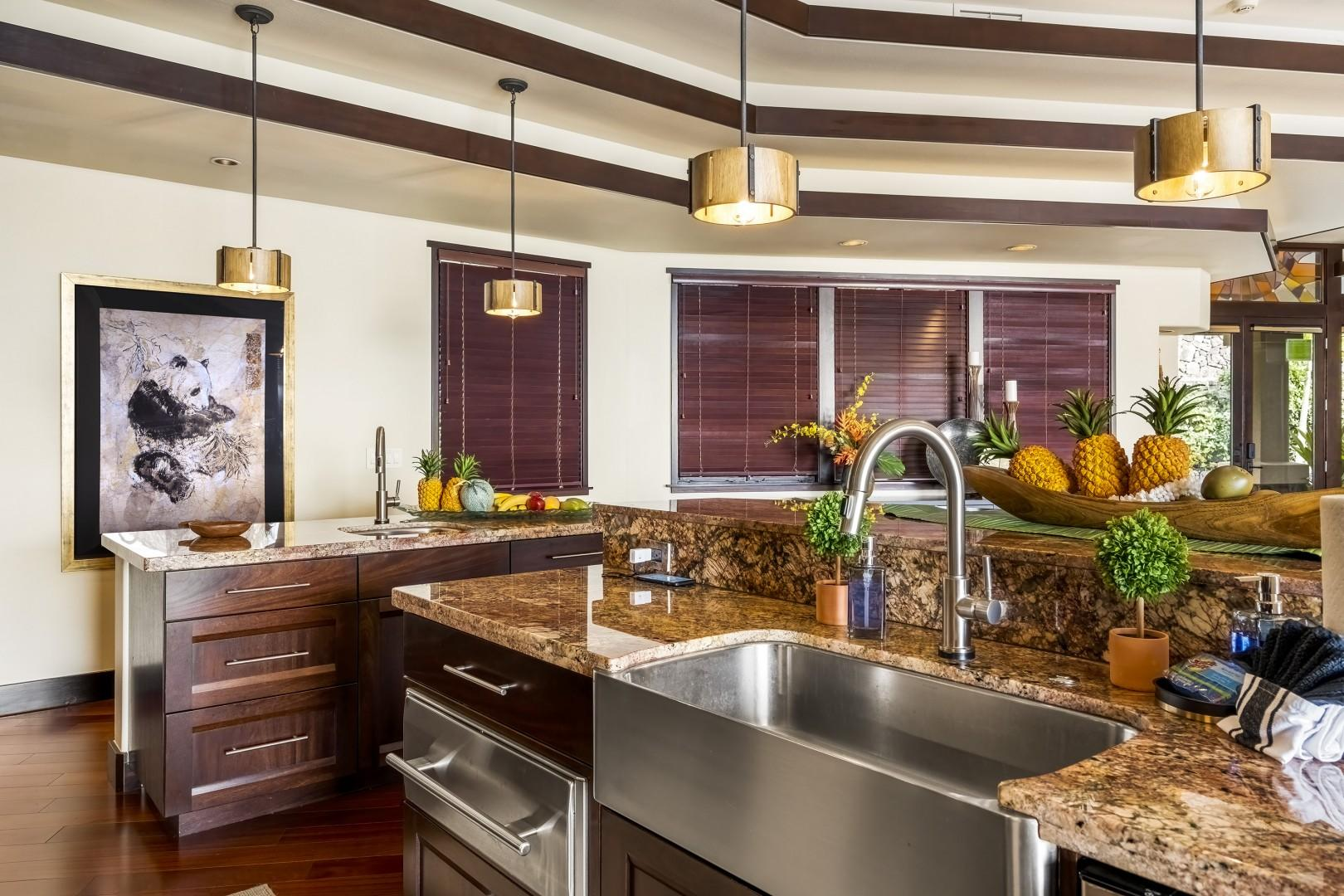 Prepare your favorite meals in this fantastic Chef's kitchen