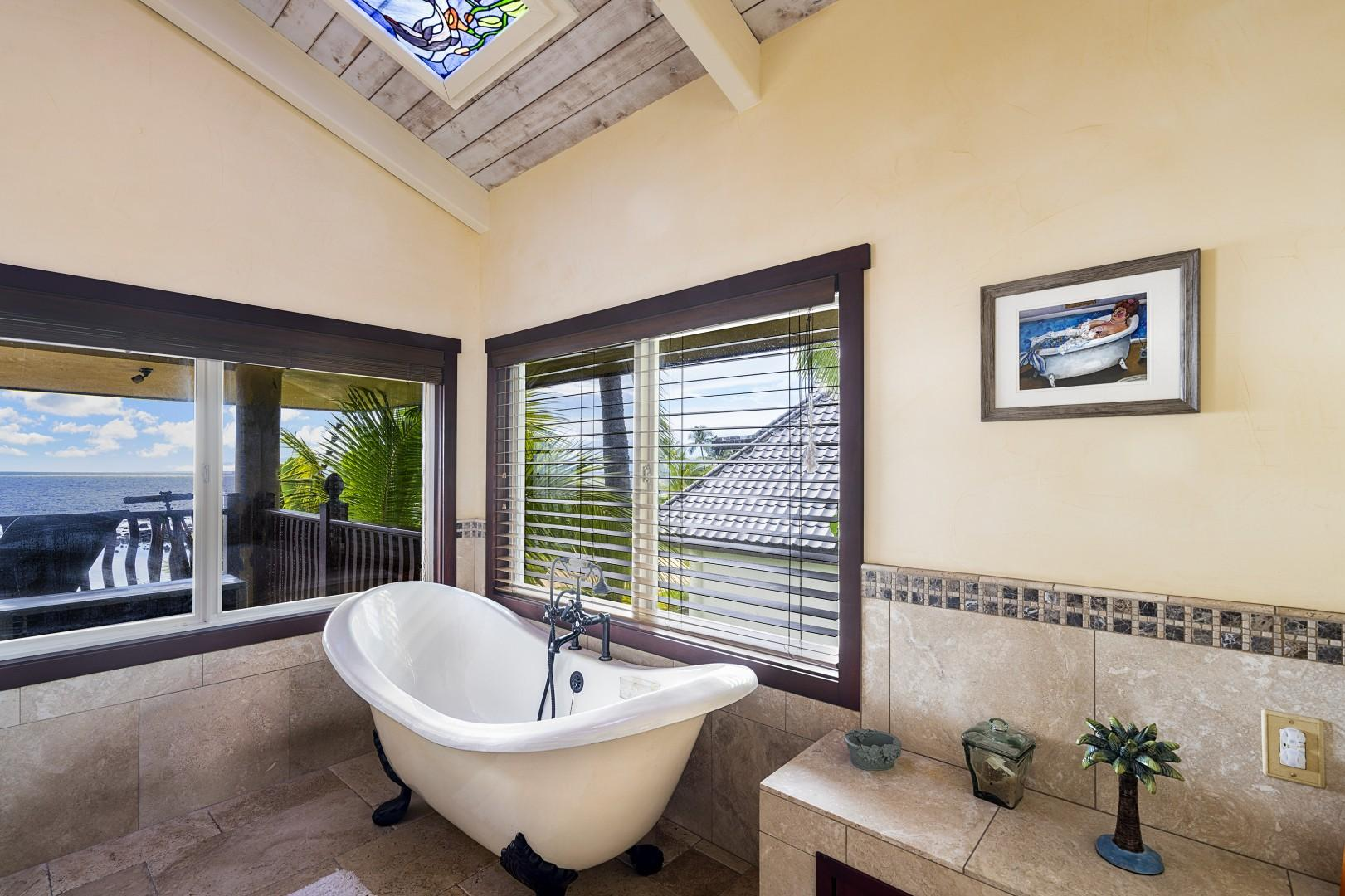 Clawfoot tub with a view!