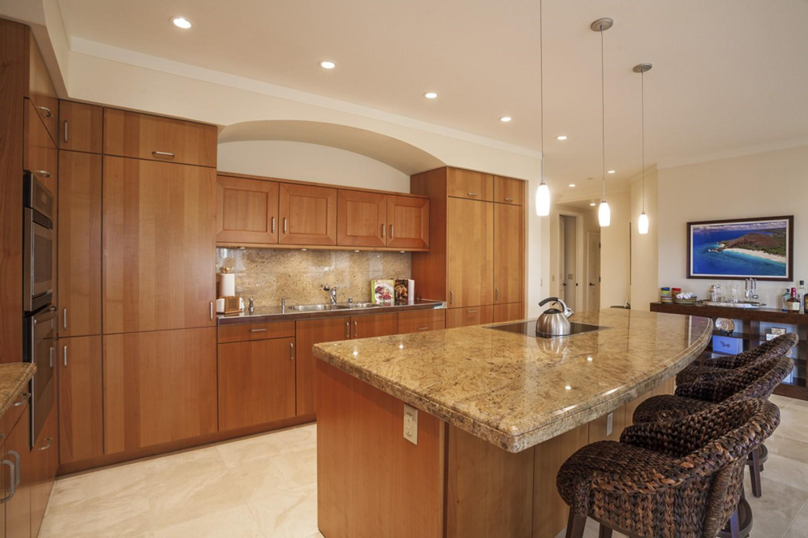 Gorgeous kitchen with high-quality appliances and all new cookware and tableware.