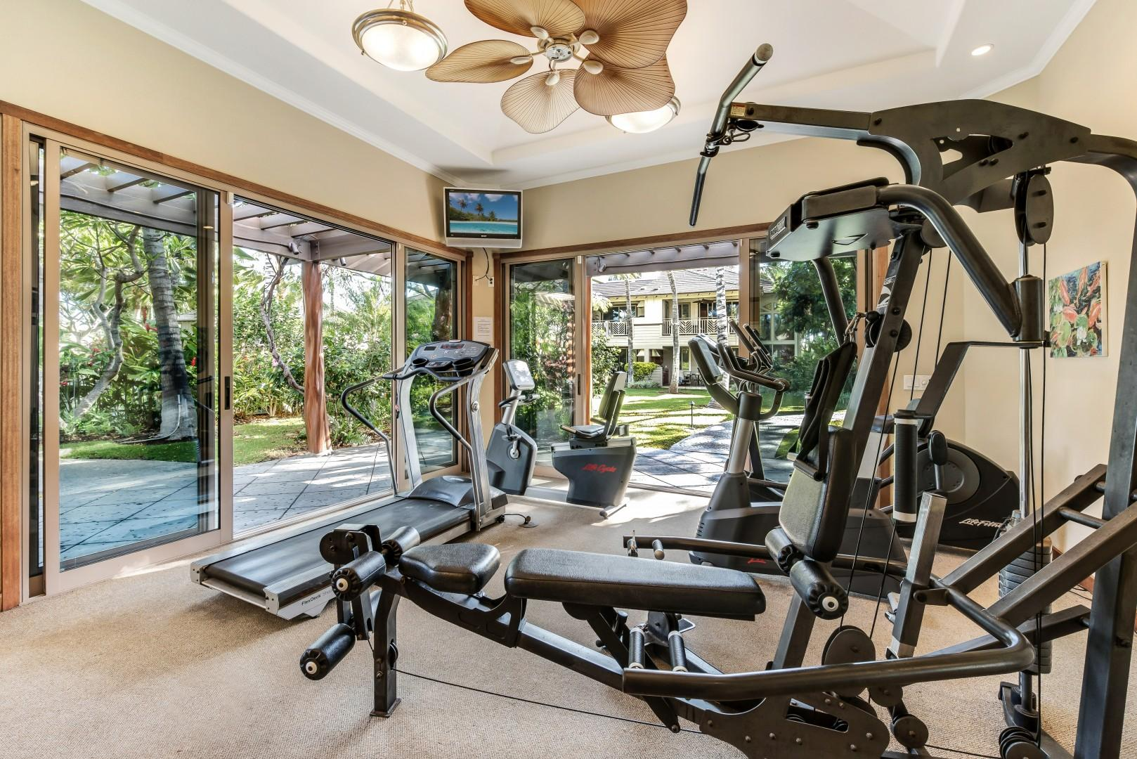 Air-Conditioned Fitness Room Next to Swimming Pool