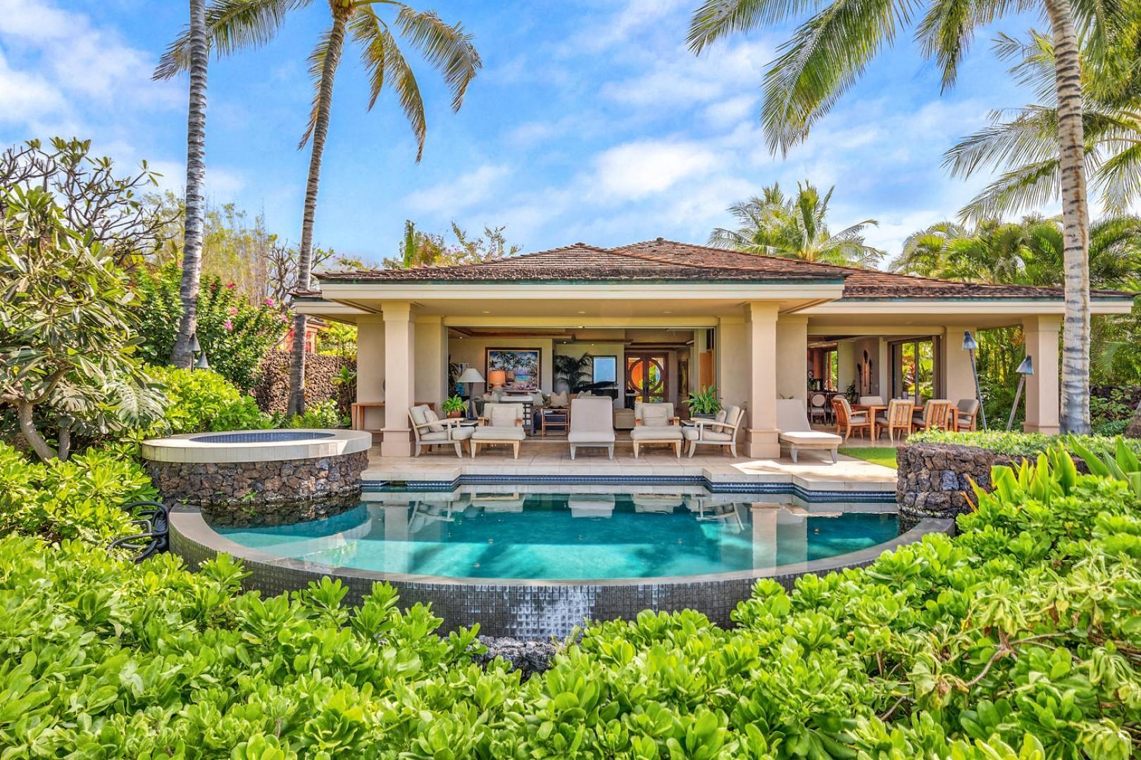 Elegant open concept estate home with private pool & spa.