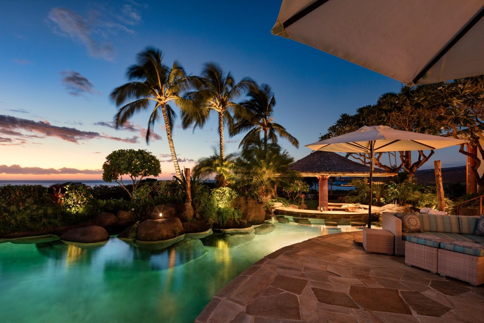 Bask in fabulous sunsets year-round from this epic home.