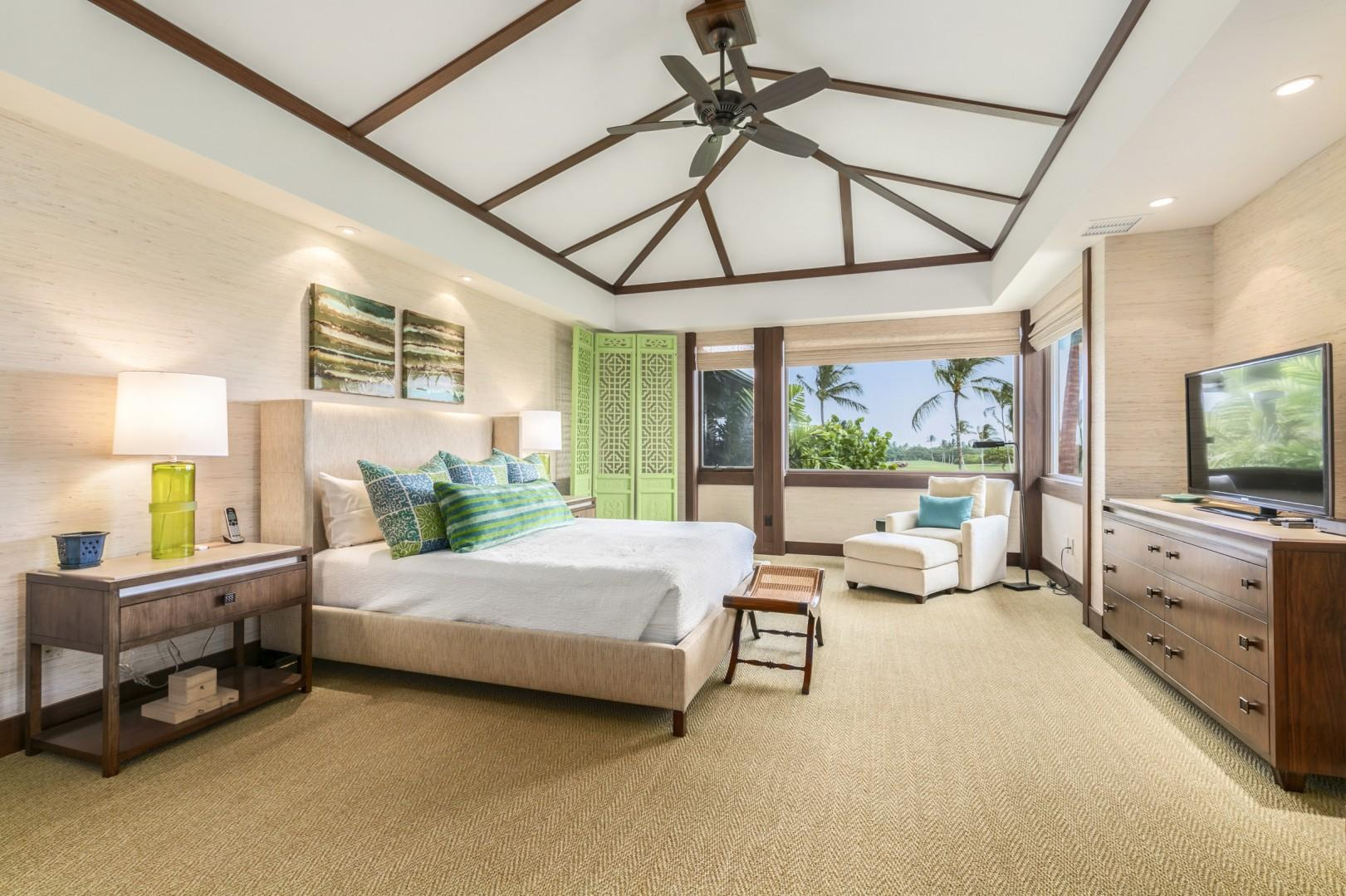 Master Bedroom Suite with King Bed, Lanai, and En Suite Bath.