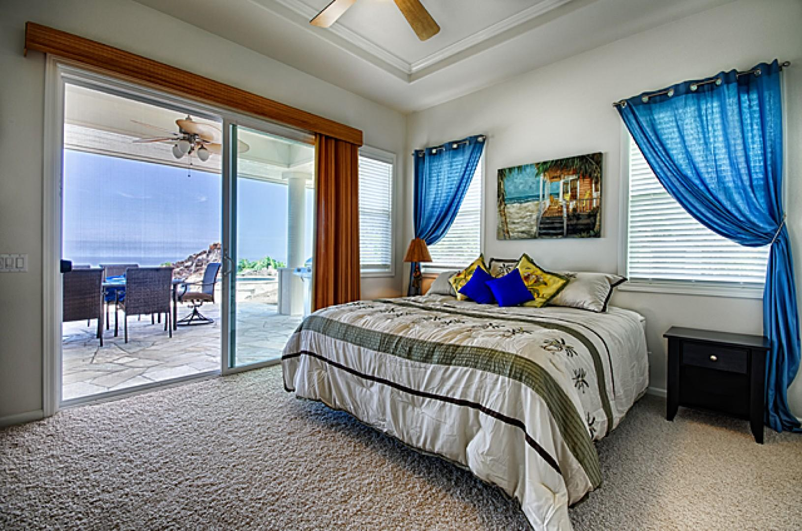 Guest bedroom with king bed & direct access to lanai!