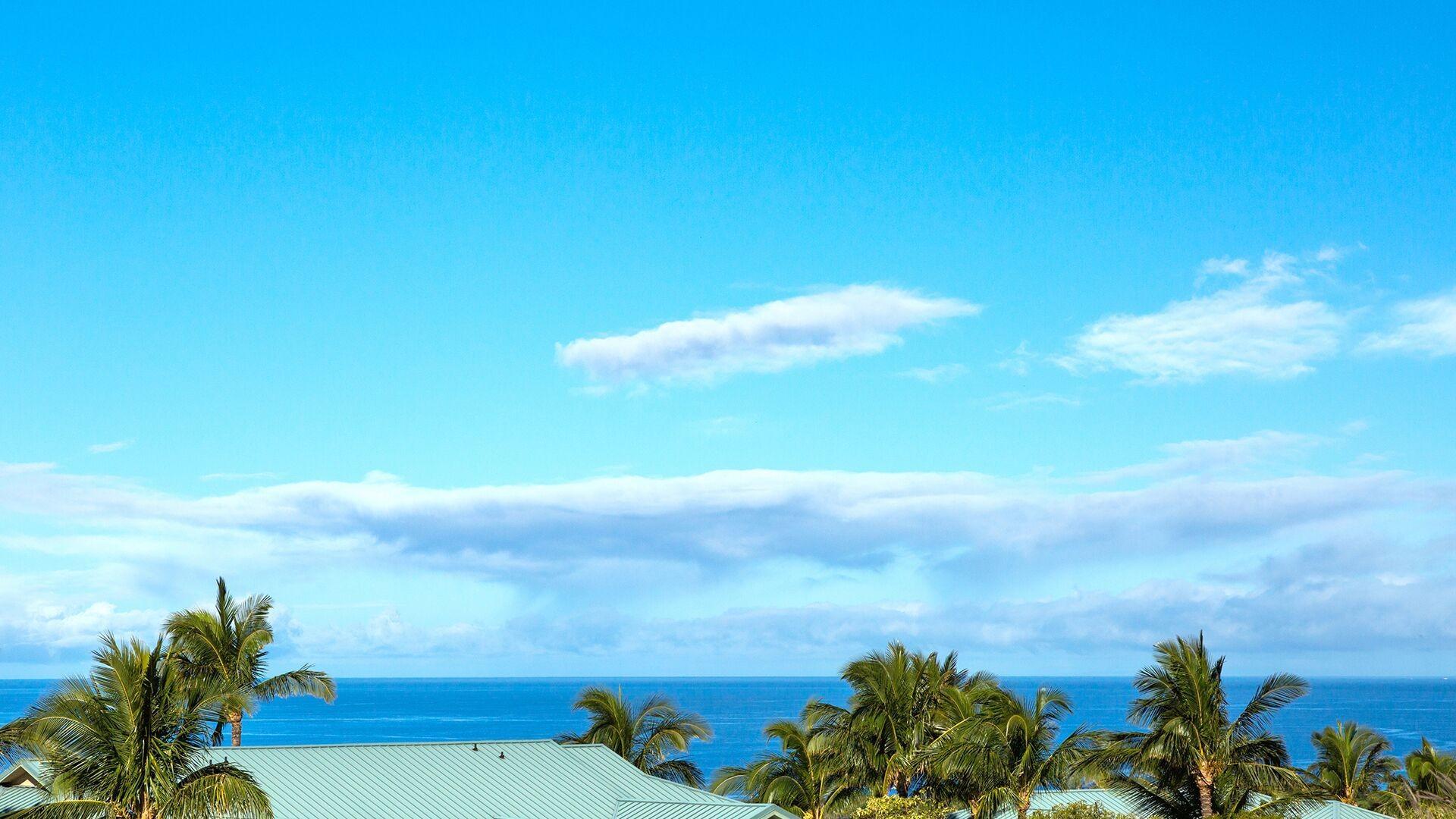 Beautiful ocean views along a large stretch of the Kohala Coast.