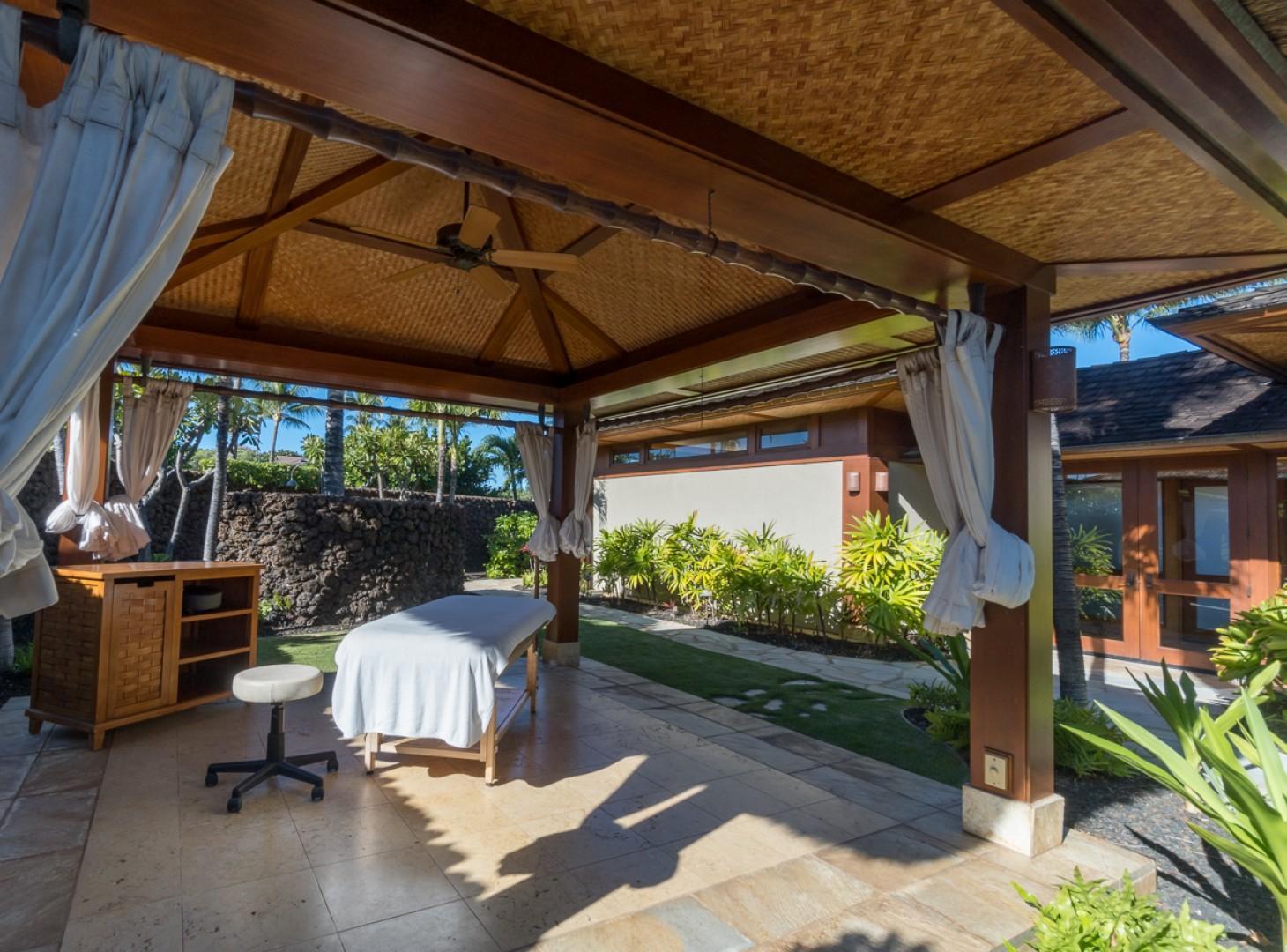 Reserve a private massage area