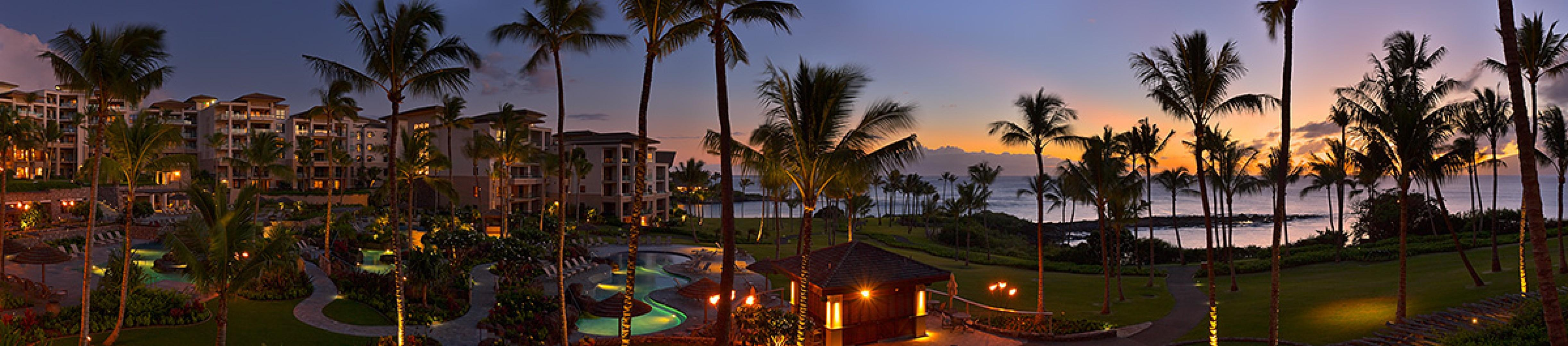 Panoramic Views From Pools to Ocean at Sunset