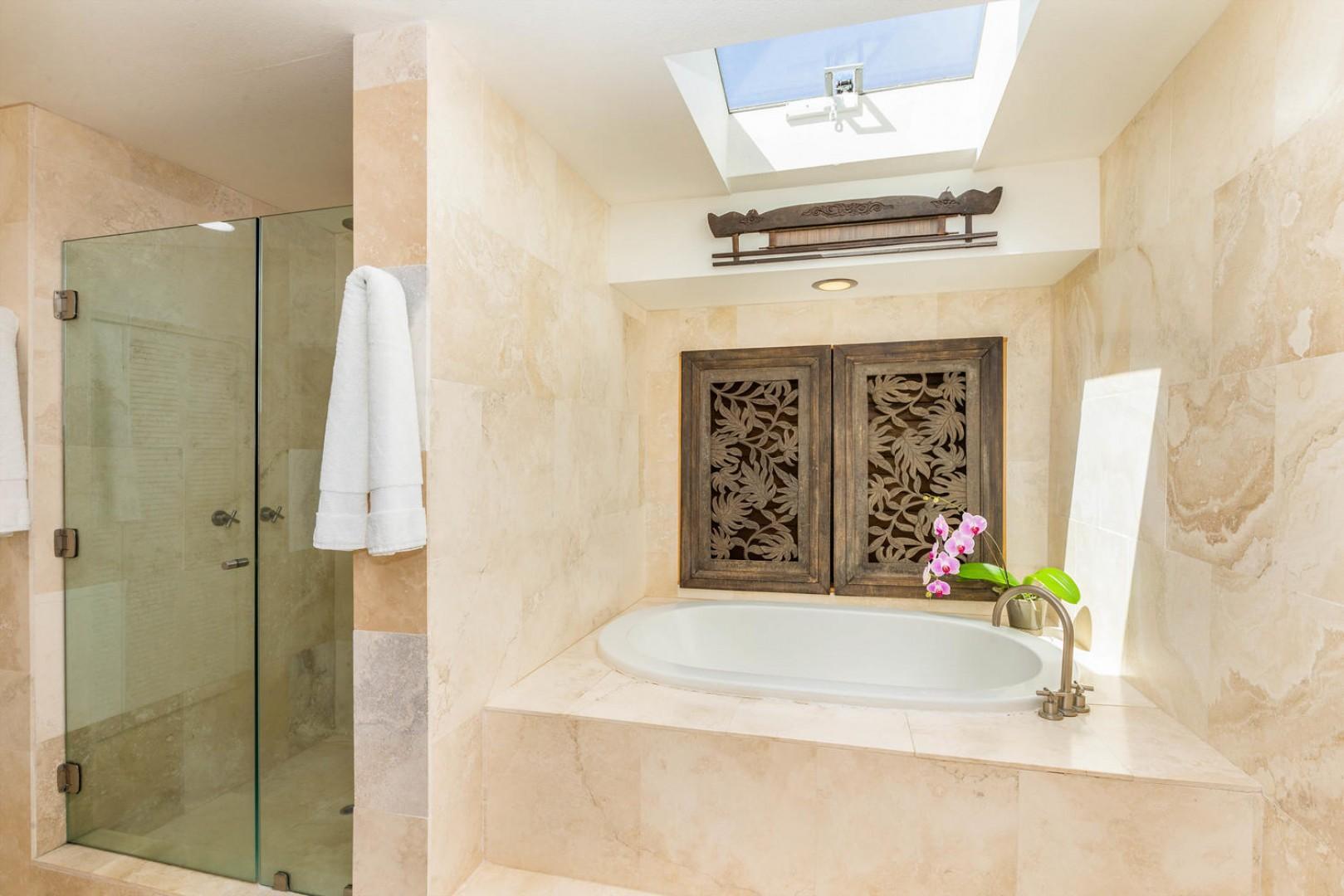 Master Suite Bathroom with Double Capacity Bath Tub