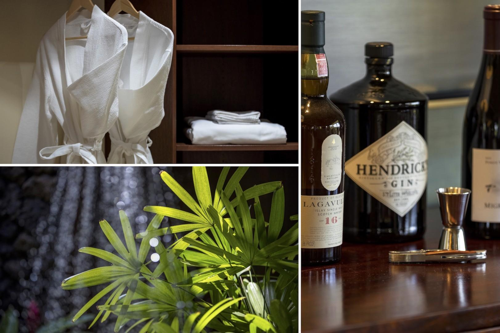 Indulge yourself in paradise with robes included for your comfort, a topical outdoor shower garden, and libations of your choosing.