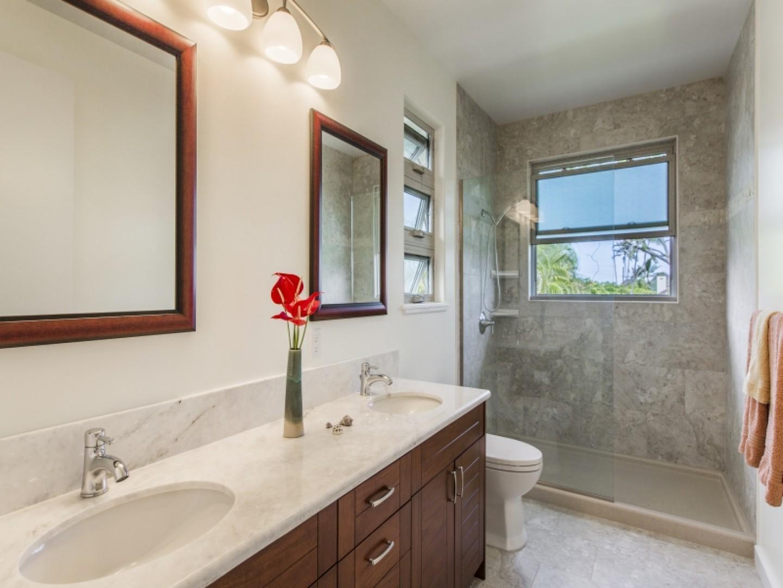Second-floor guest bathroom.