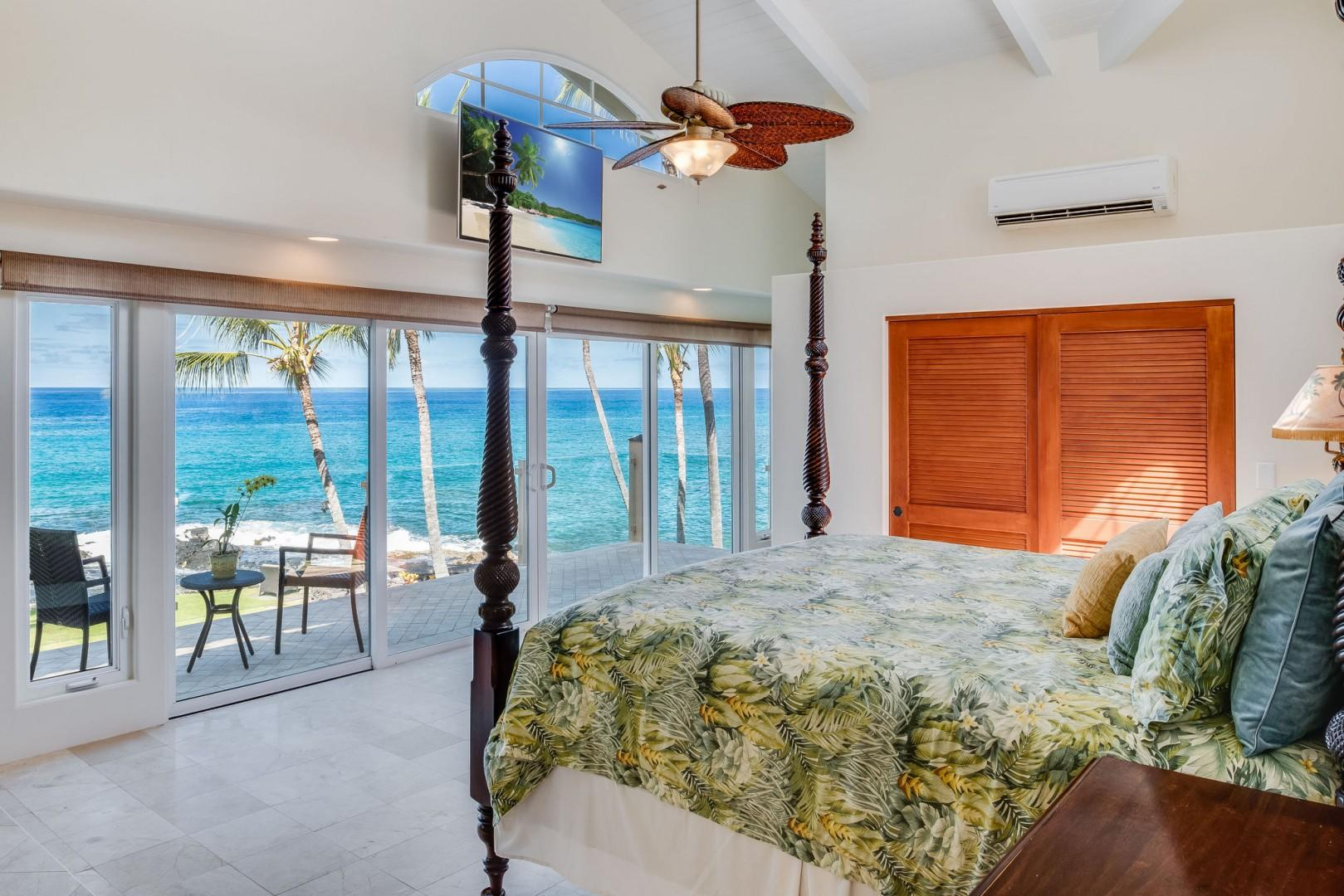View from the bed in Hale Lihikai