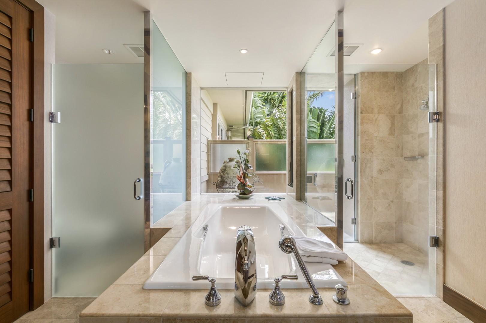 Master Bath Soaking Tub.