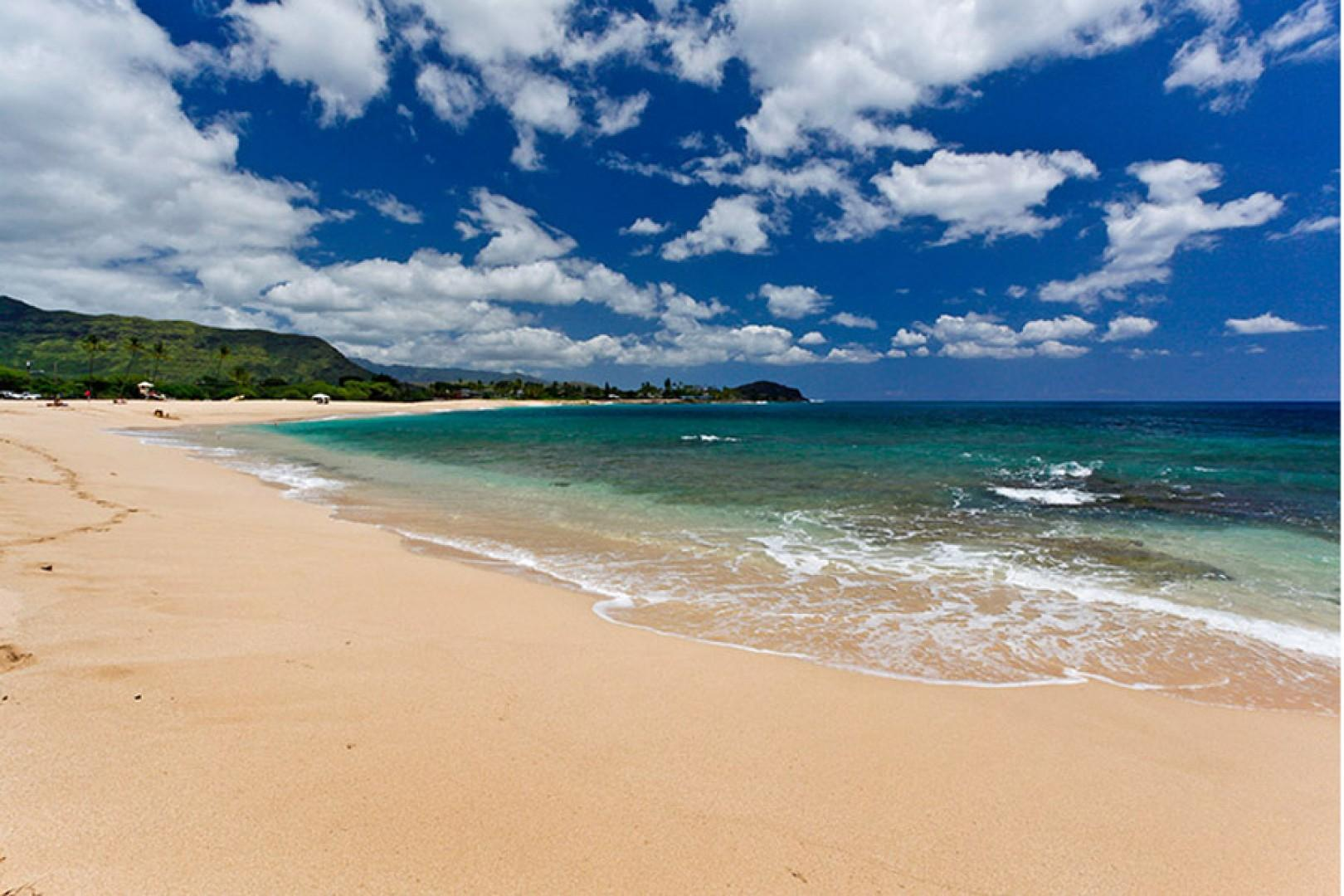 Makaha Beach Park, located just over a half mile from the house.