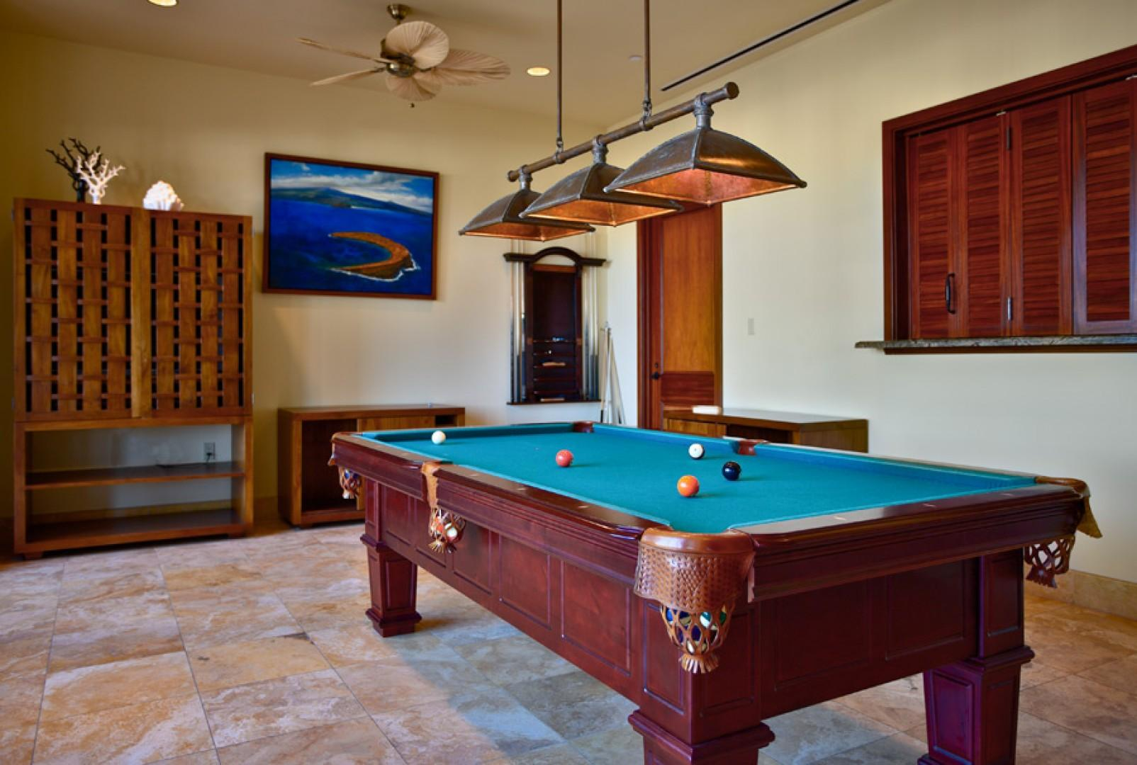 Billiards Room Wailea Beach Villas