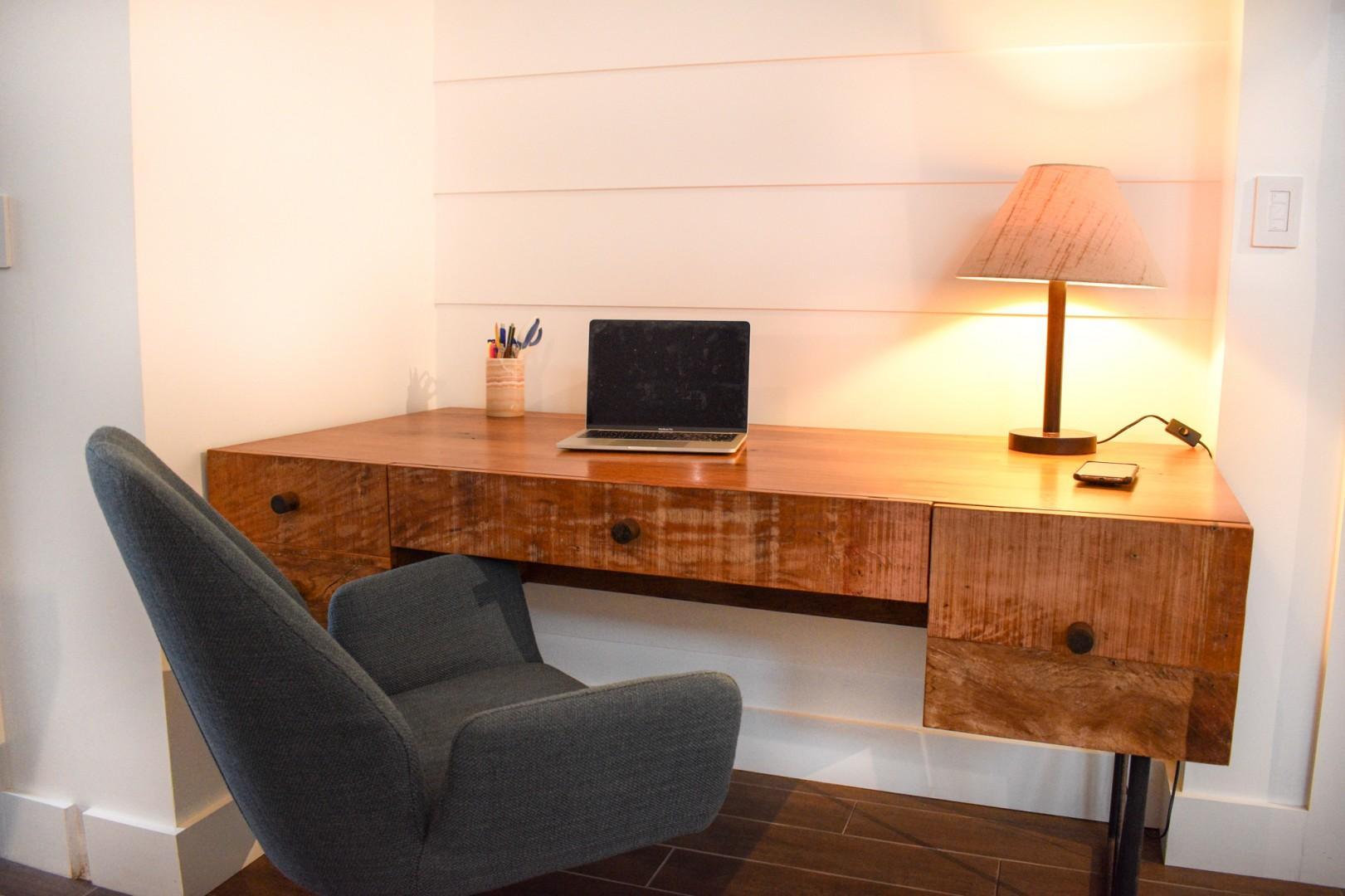 Cozy cottage desk area