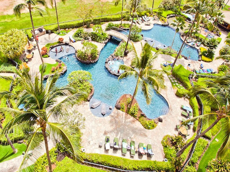 Family-friendly lagoon pool