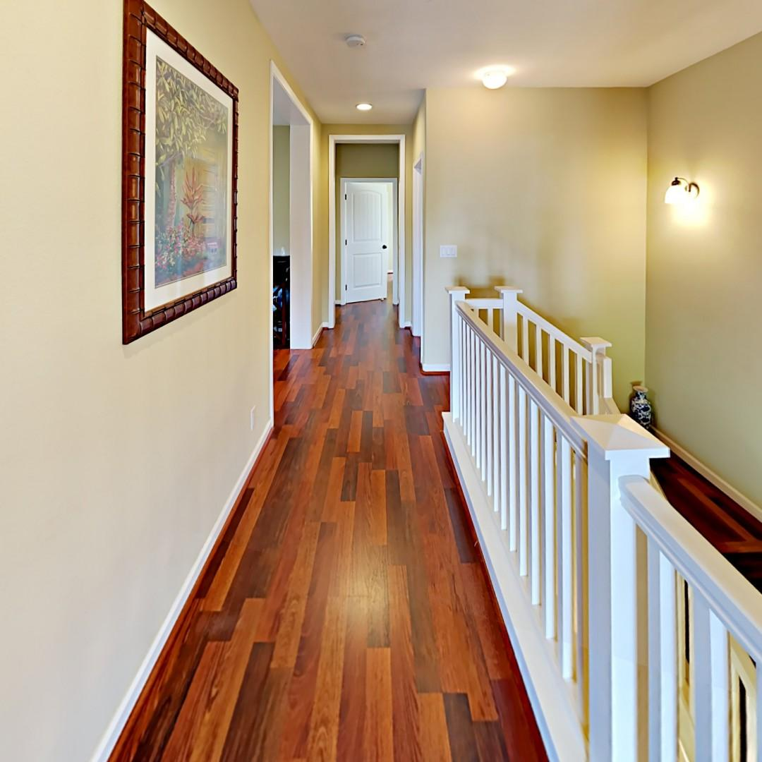 Hallway from Master to Two Bedrooms