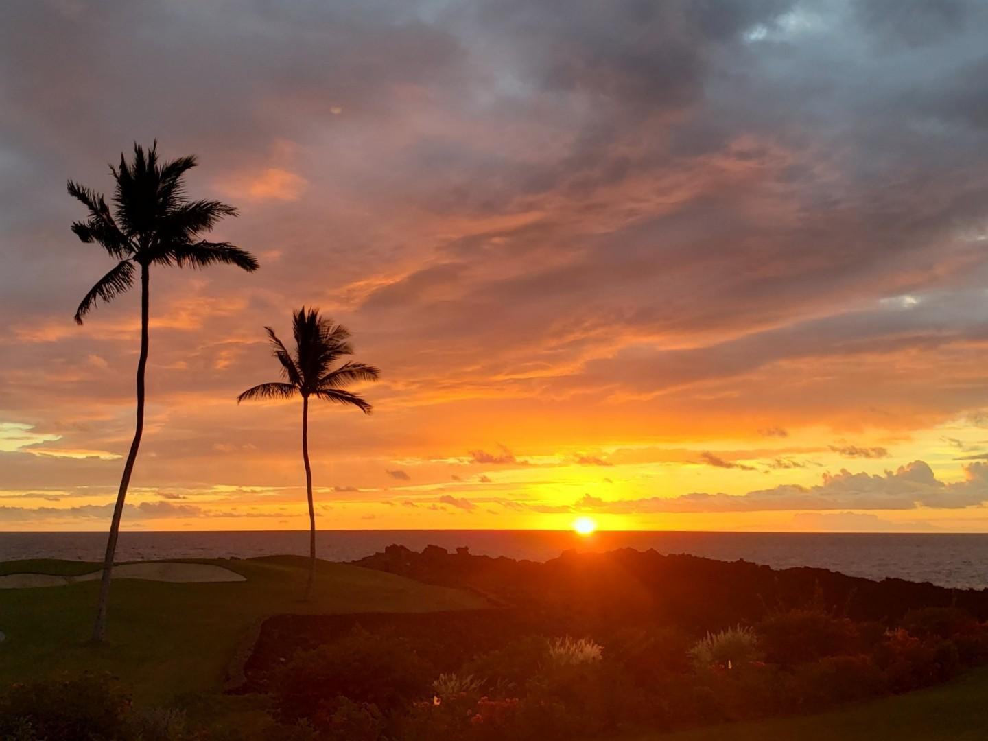 Sunsets year round as you look for the green flash.