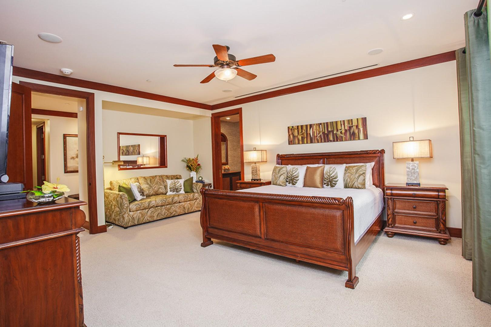 Spacious second master bedroom.