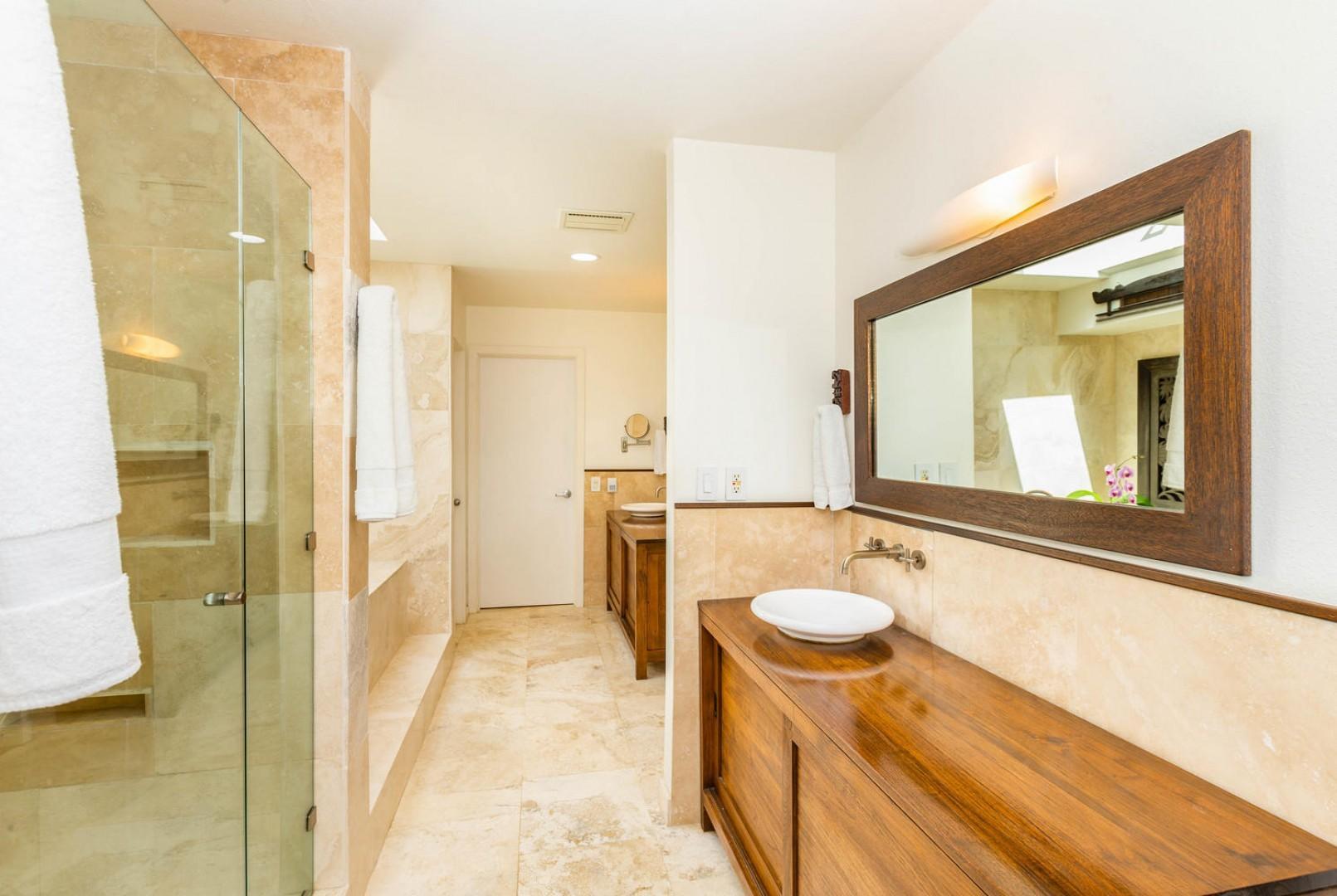 Master Suite Bathroom with Double Vanity