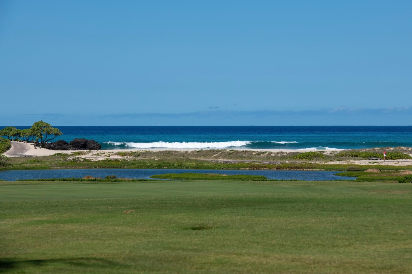 The golf villas are the closest private residences to the ocean in the entire Four Seasons Hualalai Resort.
