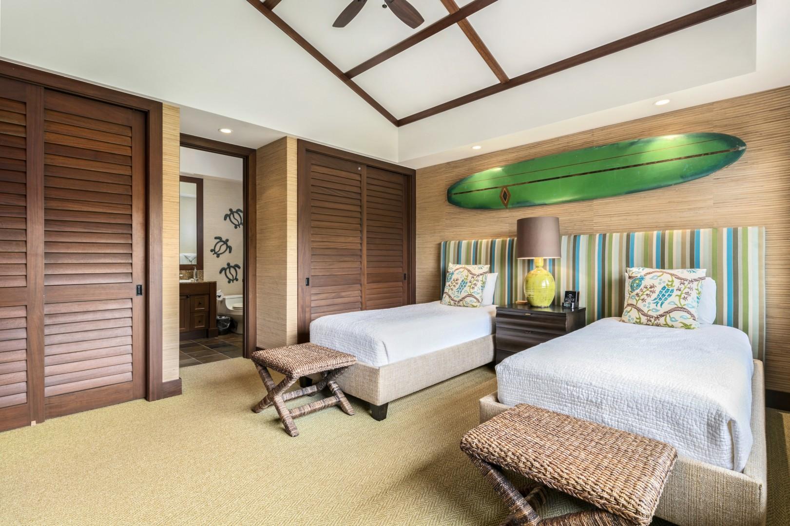 Alternate View of Second Bedroom with En Suite Bath.
