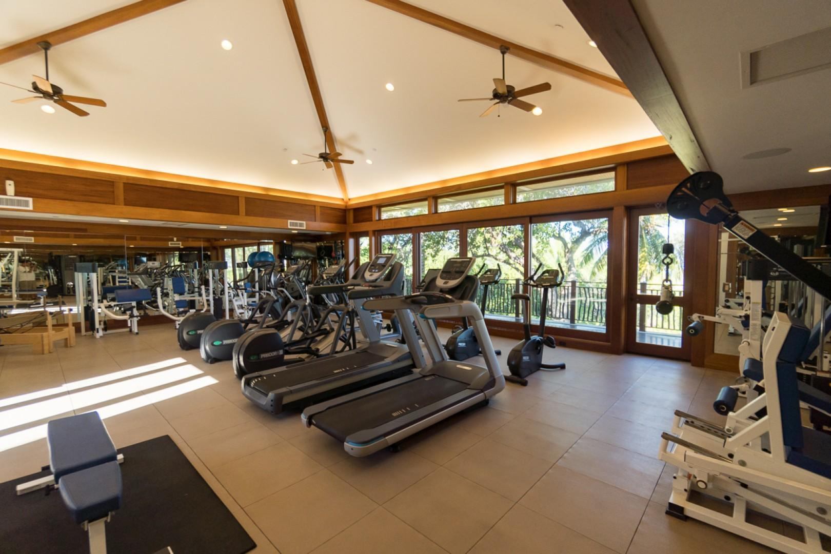 A bright and airy setting for your workout