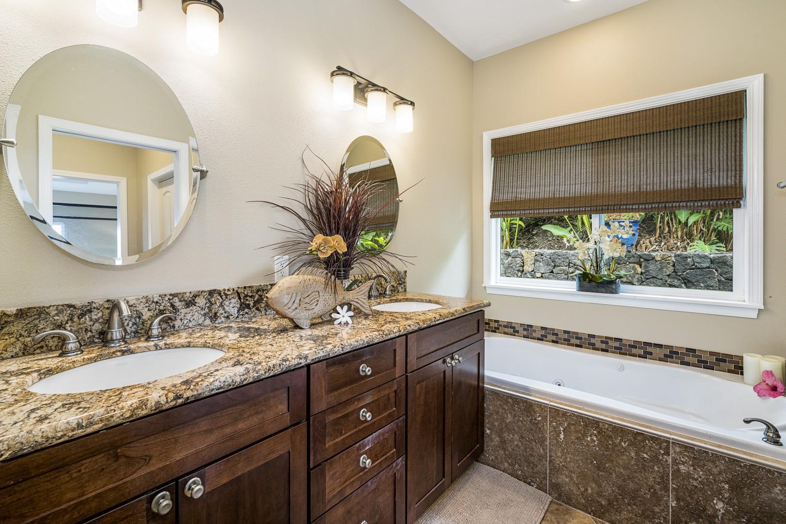 Dual vanity in the Master bath!