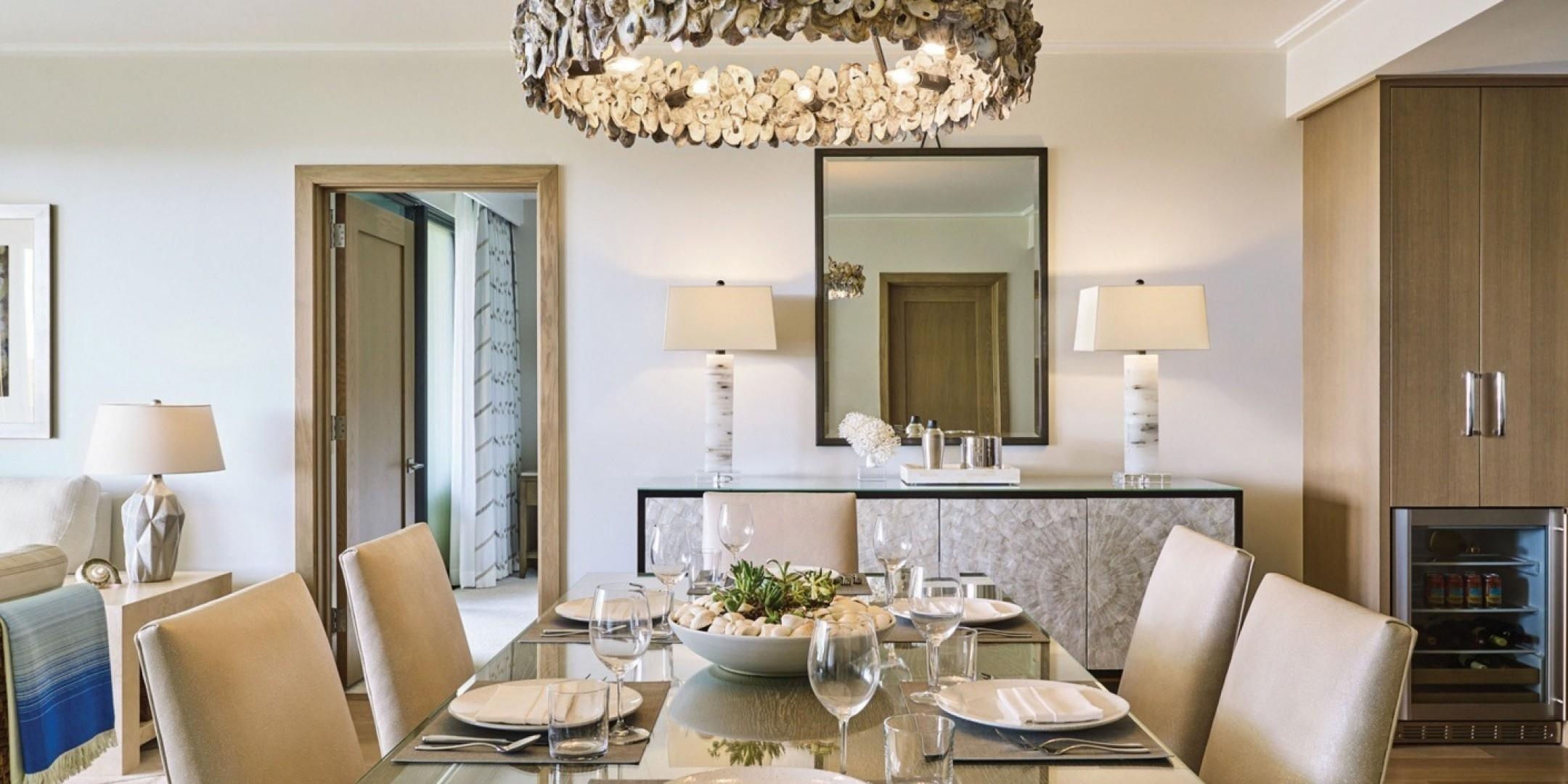 The residences feature formal dining spaces and are beautifully appointed with fine finishes and details.