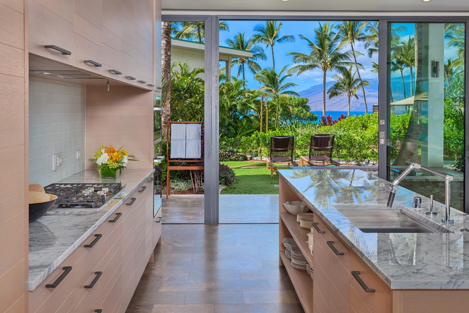 SeaGlass Villa 810 at Andaz Maui Wailea Resort - Create Maui Inspired Culinary Masterpieces in the Meile Equipped Gourmet Kitchen