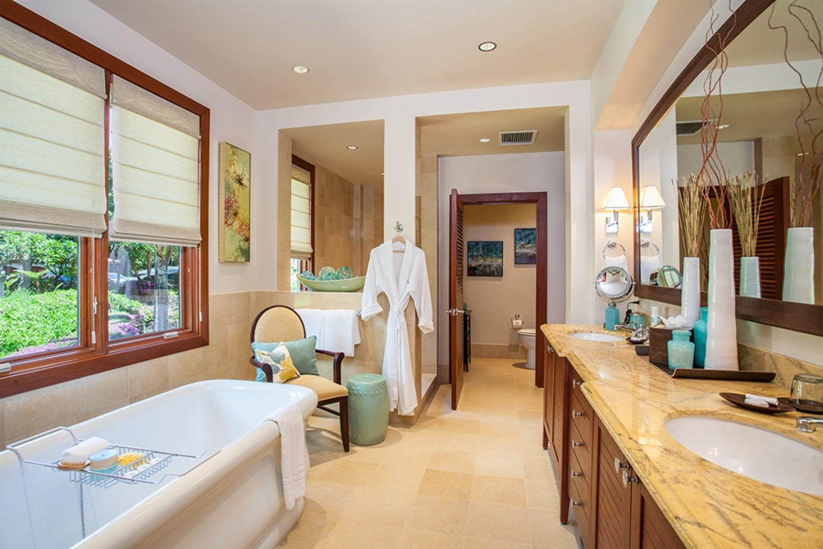 Sun Splash C301 - Ocean View Master Bath with Deep Soaking Tub and Separate Shower, Private WC, and Walk-In Closet