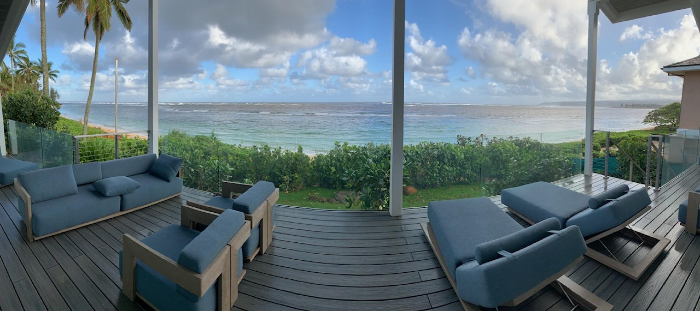 Oceanfront lanai panoramic