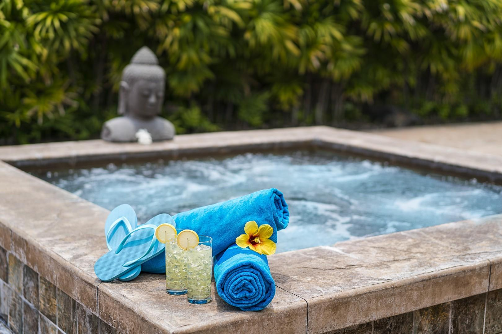 Relax and let your troubles melt away in the spa!