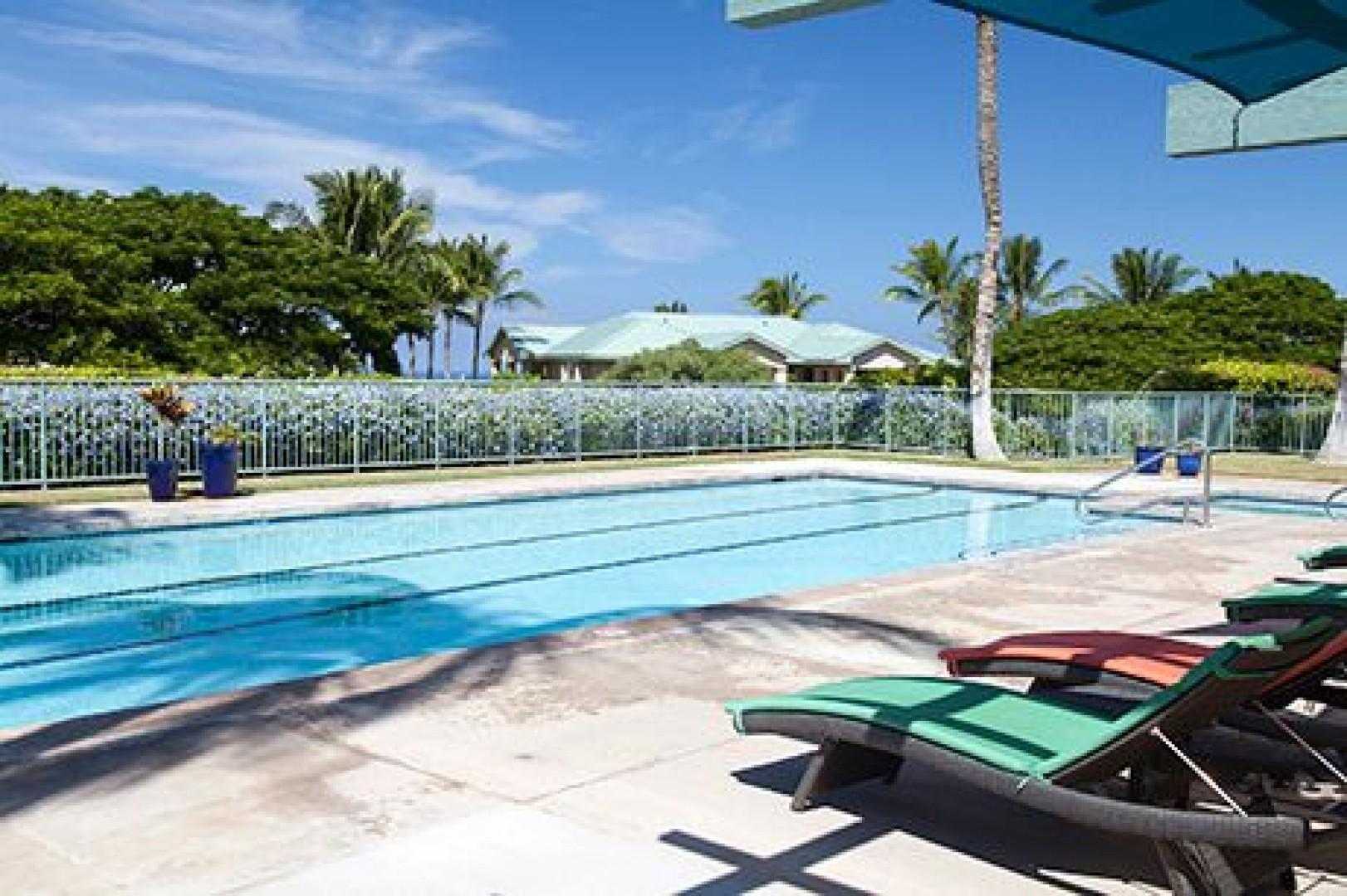 Enjoy swimming laps or taking a dip in this refreshing pool.