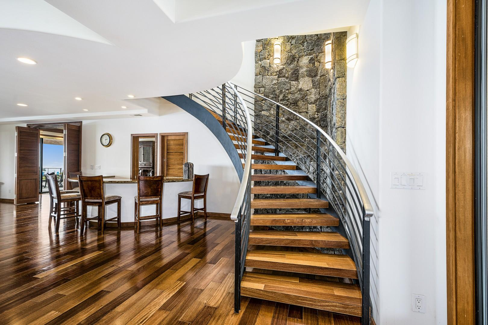 Stairs leading to the upper level