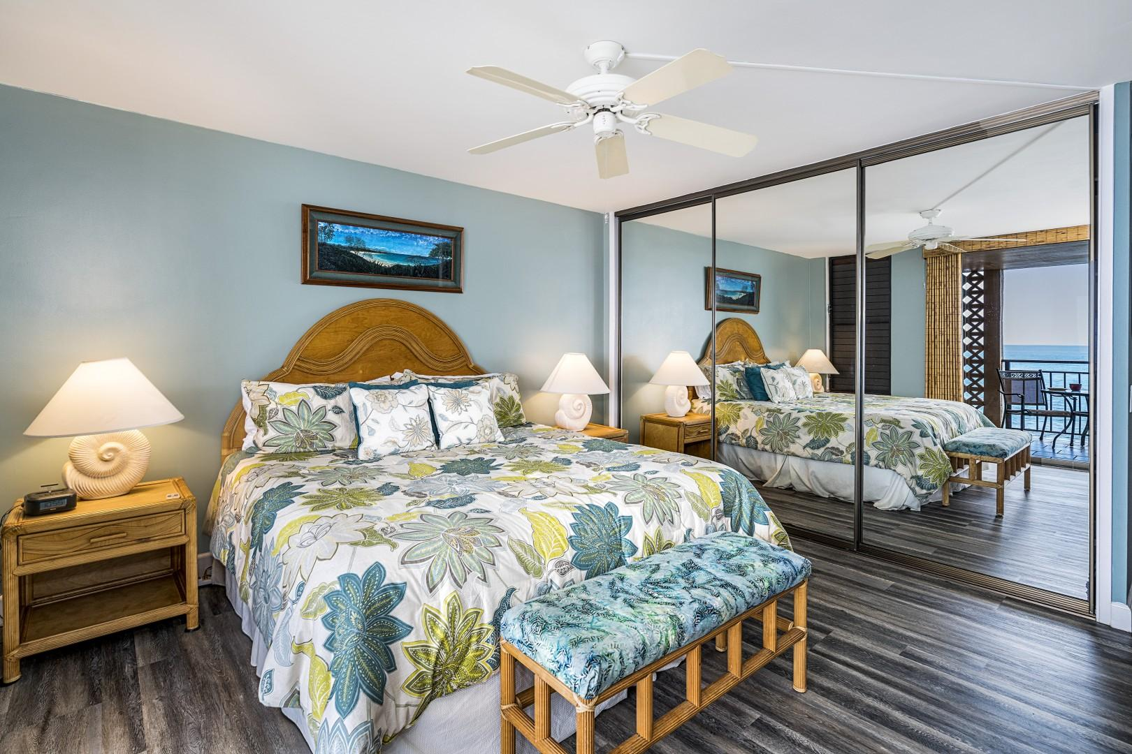 Master bedroom with King Sleep Number bed and A/C!