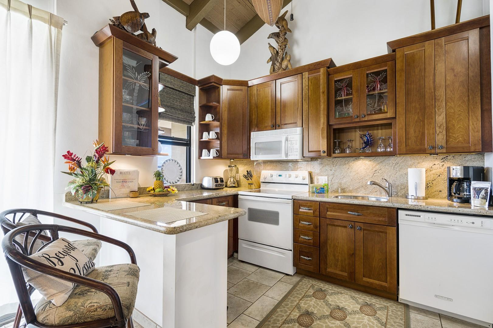 Upgraded kitchens with all the essentials to prepare home cooked meals!
