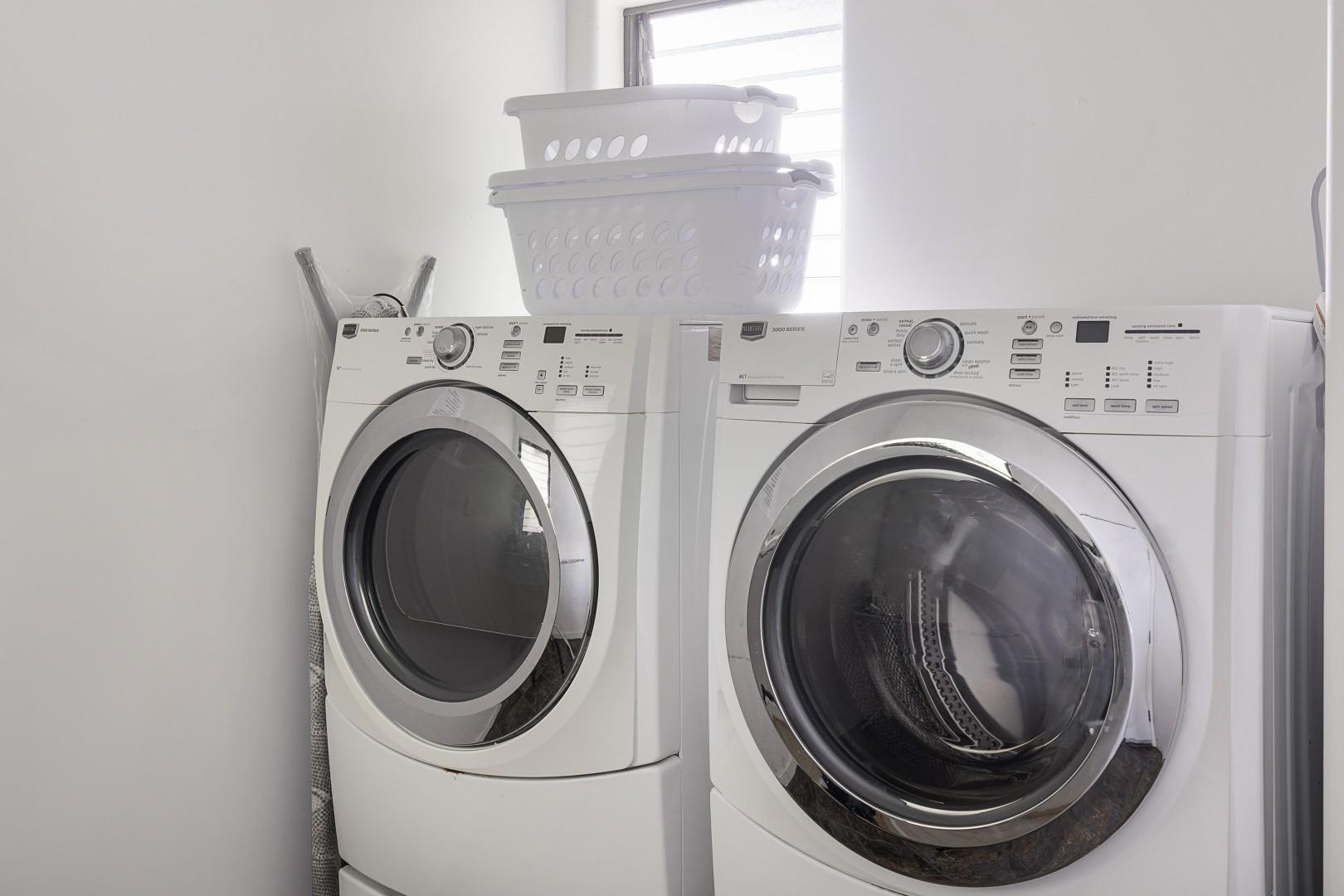 Laundry area near the garage