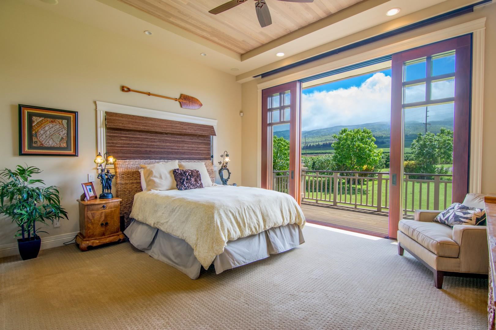 Bedroom with Beautiful Mountain Views and en suite Bathroom