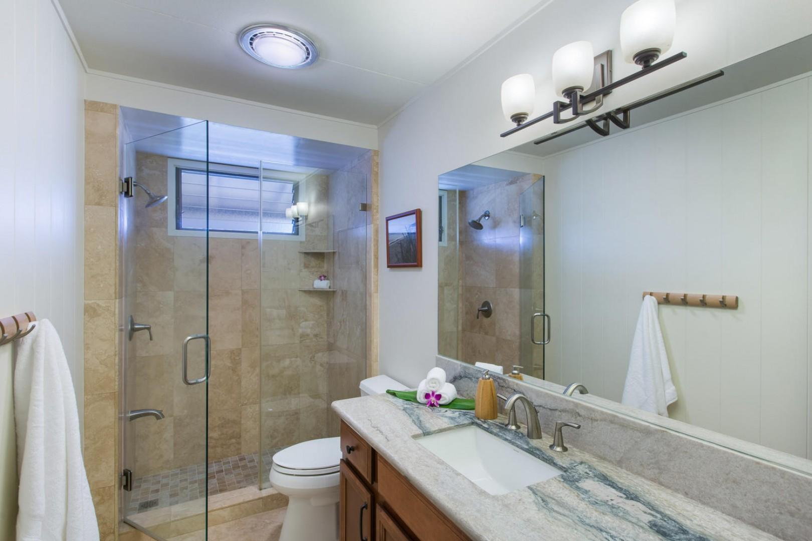 Beautifully remodeled master bath.