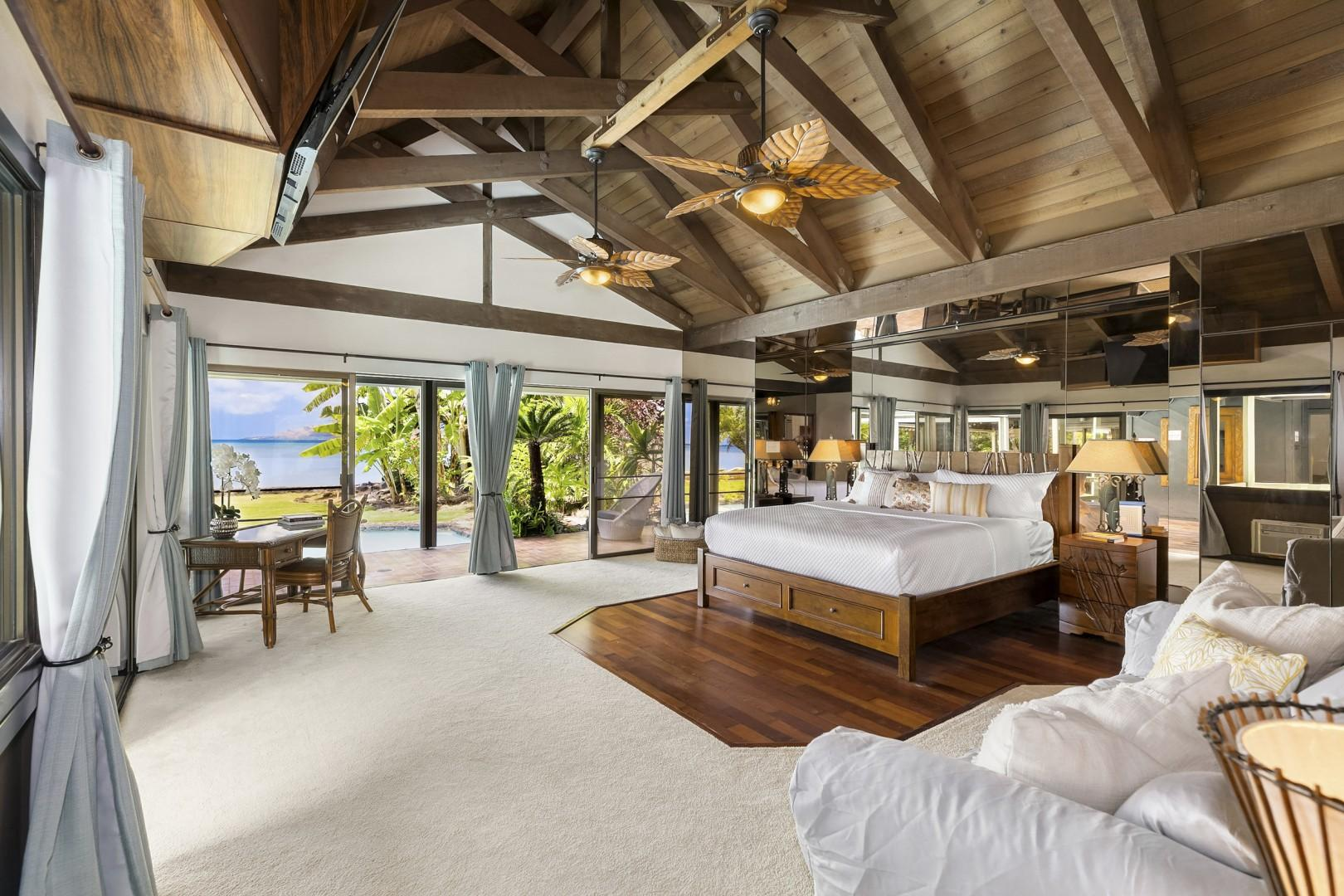 Large Master Suite with Ocean Views.