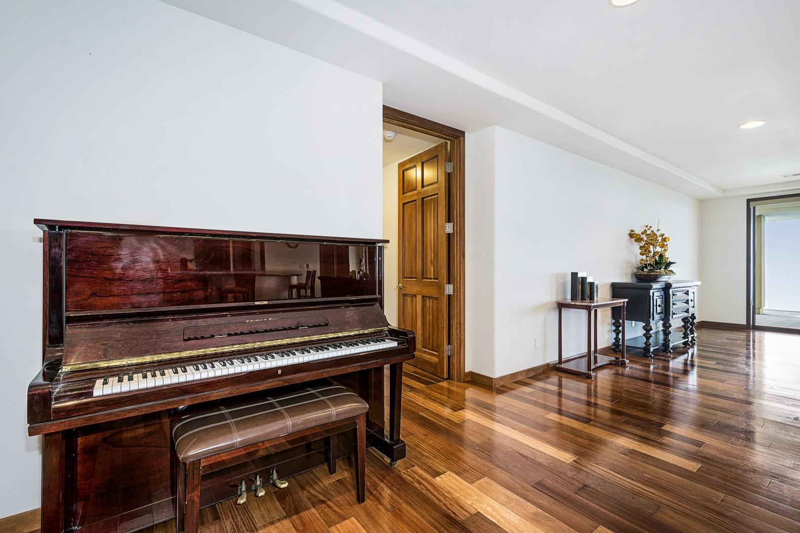 Piano for our guests enjoyment
