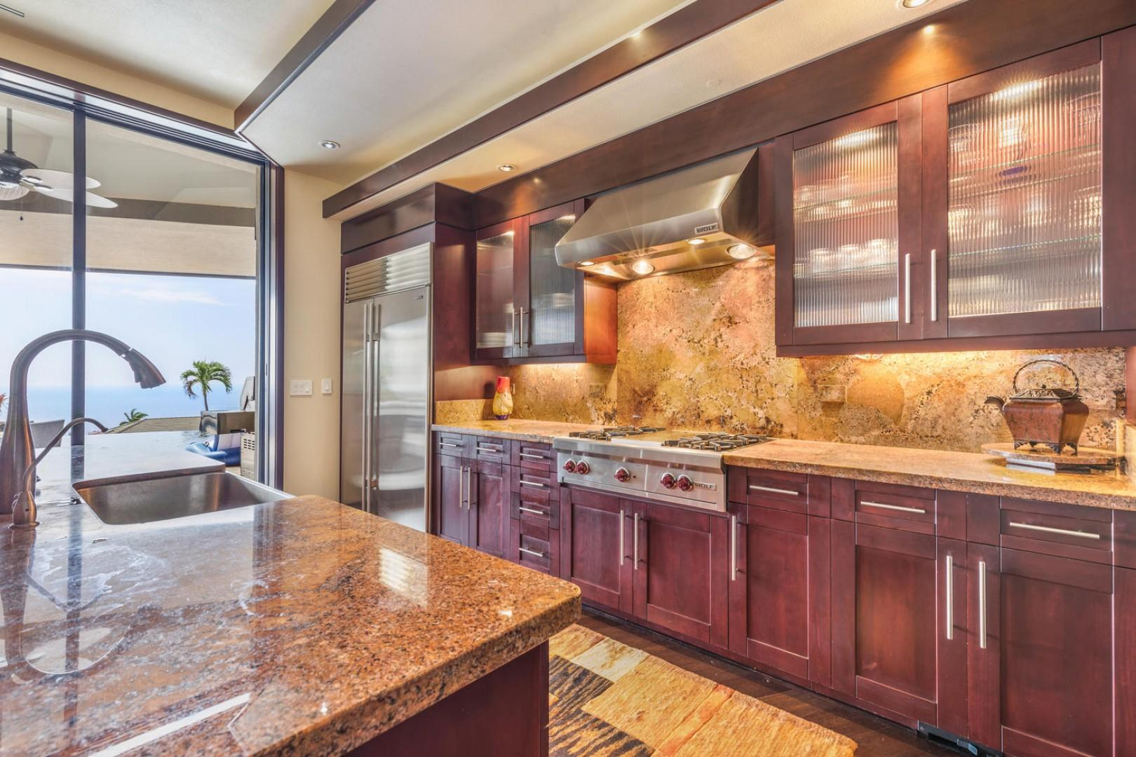 Commercial style kitchen with gas range!