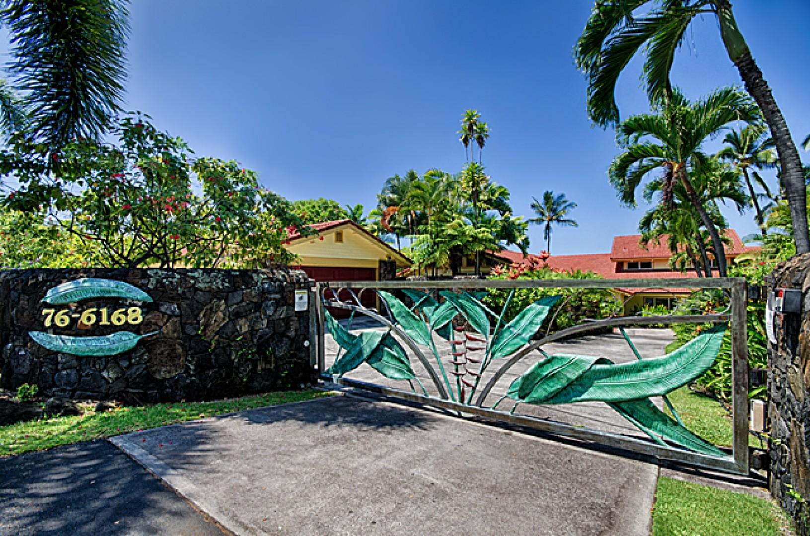 Secure gated entry to Hale Pua