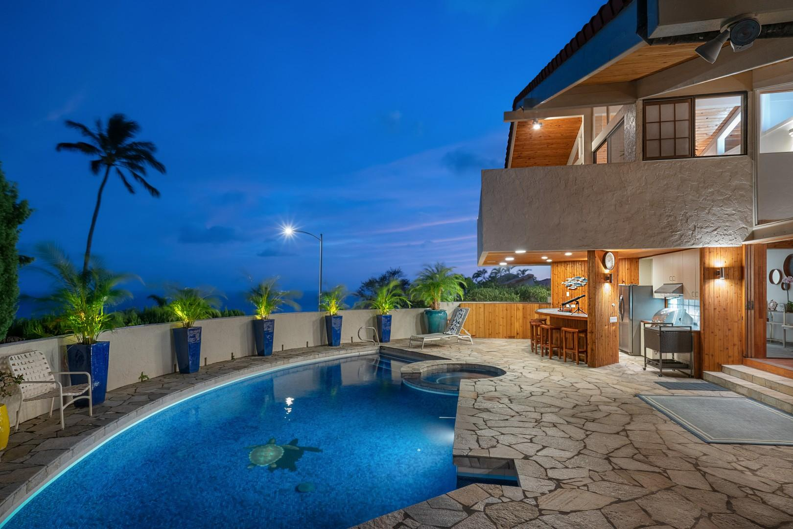 Watch the moonrise from the pool deck.