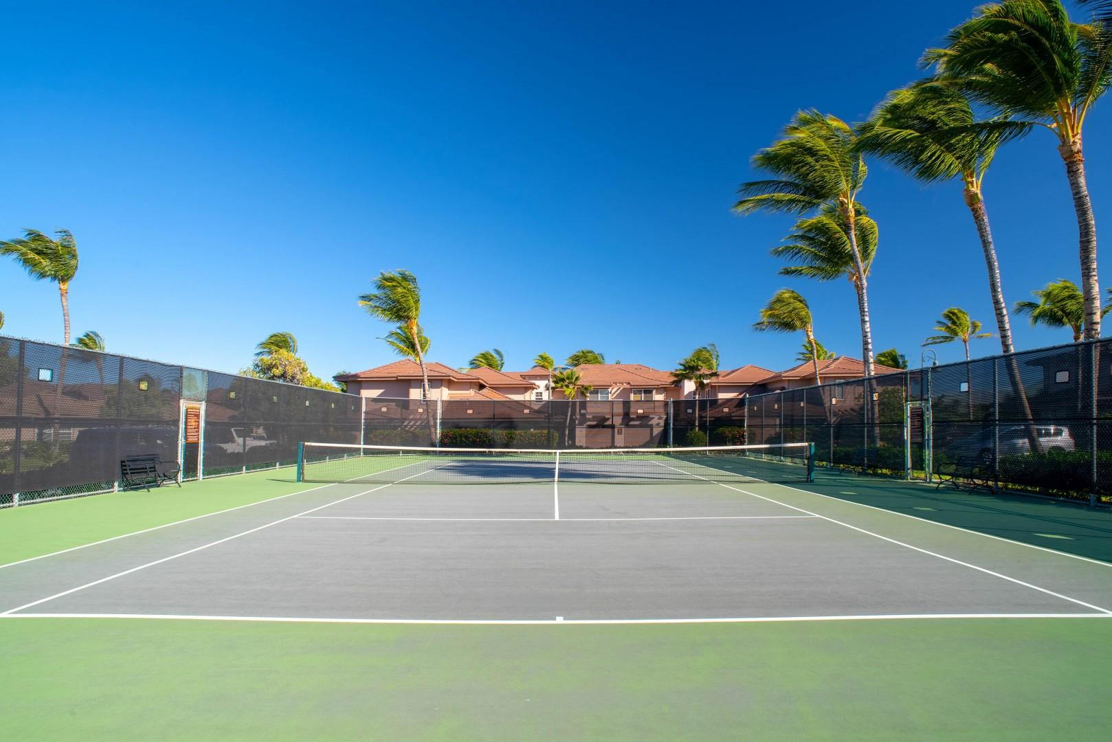 Alternate View of Tennis Court