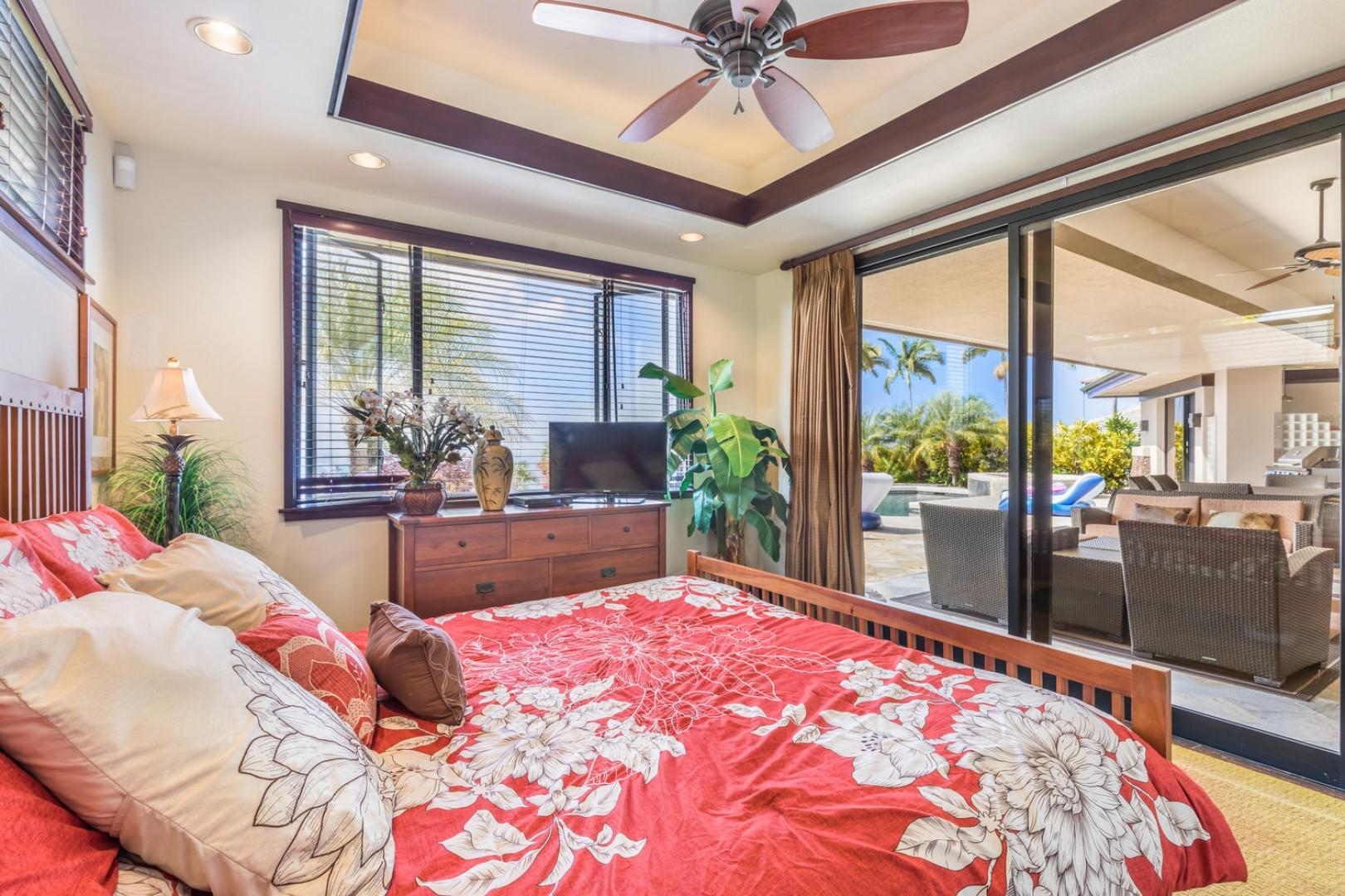 Ocean views from the guest bedroom