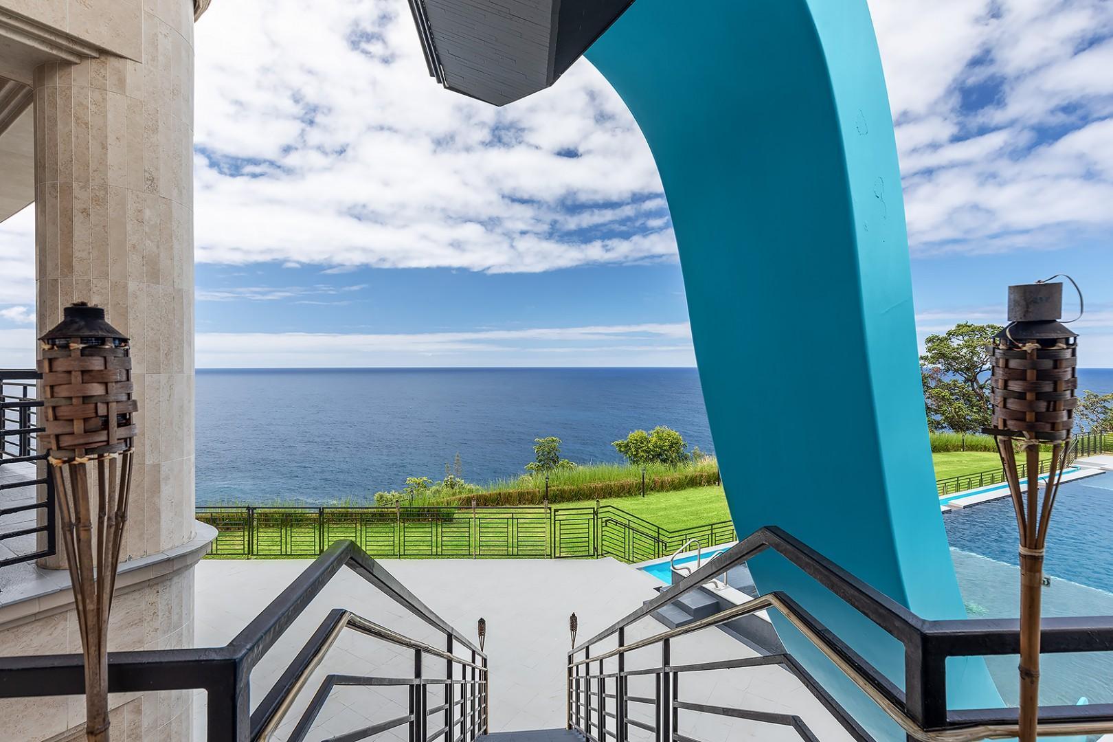 Water slide with Ocean Views