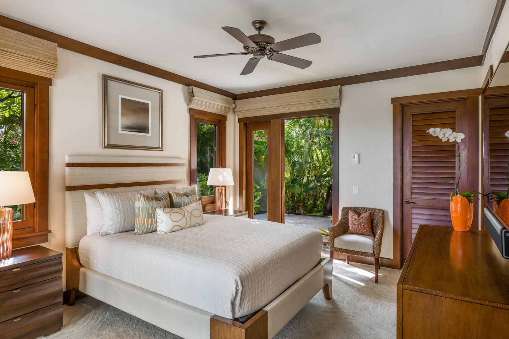 Alternate view of elegantly furnished second bedroom.